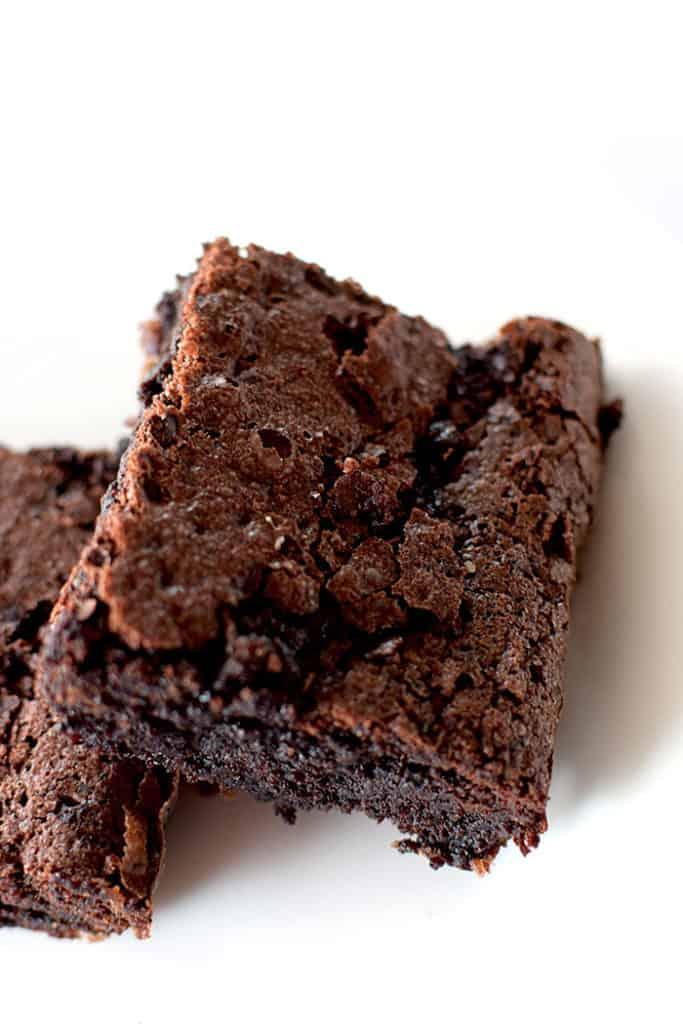 Closeup of Brownies Crunchy Top