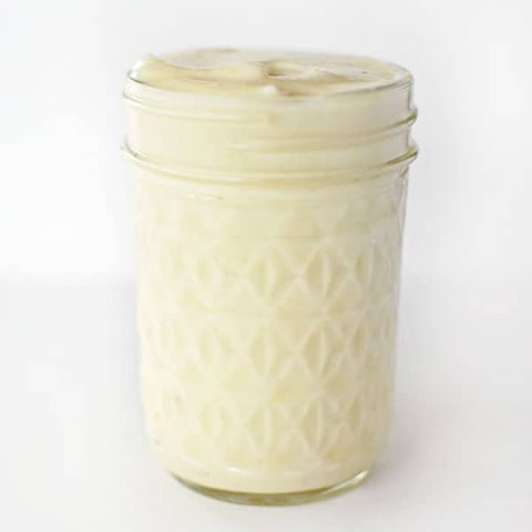 homemade mayonnaise in a jar