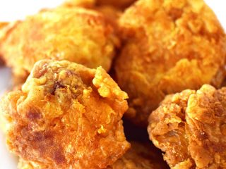 Pieces of fried chicken without buttermilk