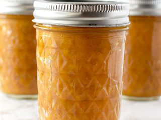 three jars of butternut squash puree