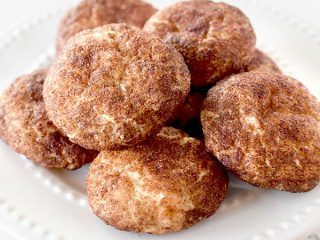 snickerdoodles piled on a plate