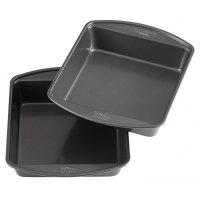 Wilton Non-Stick 8-Inch Square Cake Pans, Set of 2