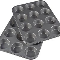 Nonstick Carbon Steel Muffin Pans, Set of 2
