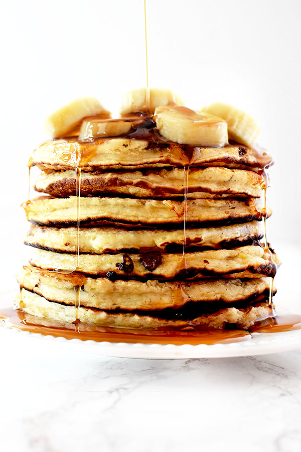 Banana Chocolate Chip Pancakes The Taste Of Kosher