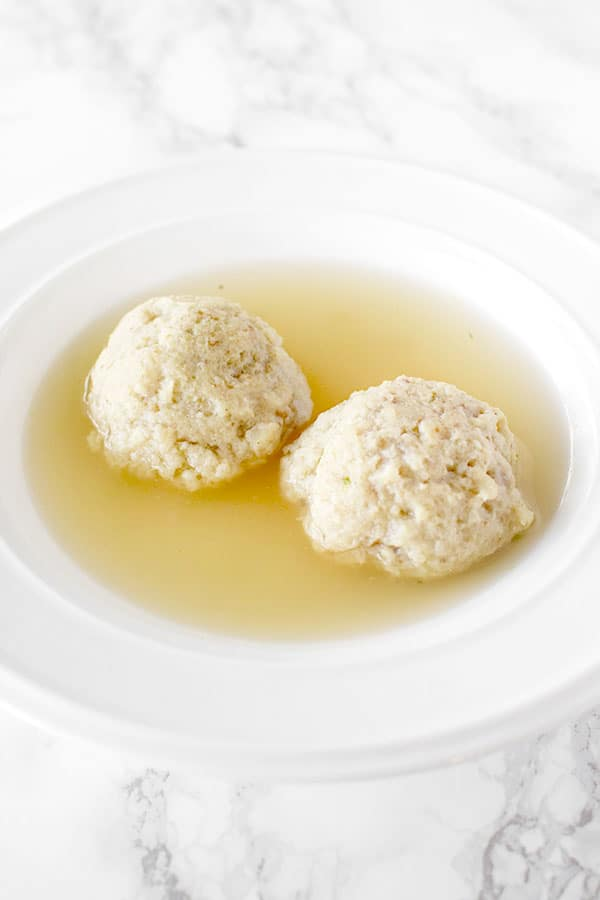 light and fluffy floater matzo balls in chicken soup
